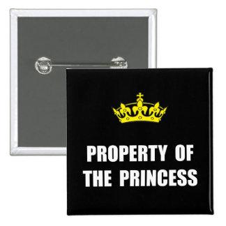Propriété de princesse badges