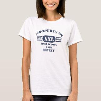 Propriété de T-shirt d'hockey