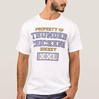 Propriété de T-shirt d'hockey de poulets de