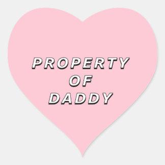 Propriété des autocollants de papa