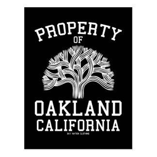 Propriété d'Oakland Cartes Postales
