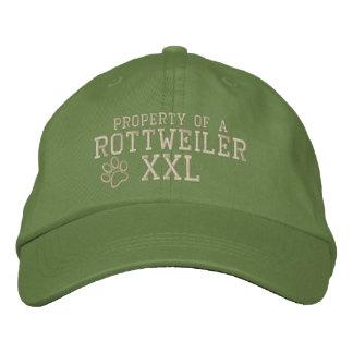 Propriété d'un casquette brodé par rottweiler