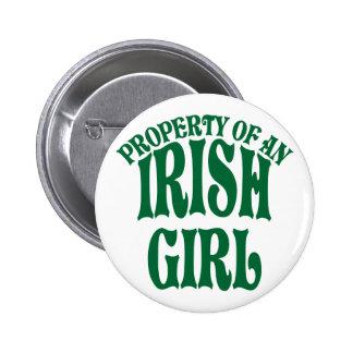 Propriété d'une fille irlandaise badge