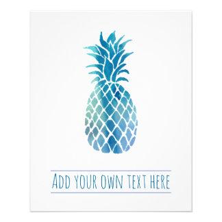 Prospectus 11,4 Cm X 14,2 Cm ananas bleu