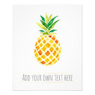 Prospectus 11,4 Cm X 14,2 Cm ananas tropical d'été d'aquarelle