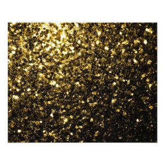 Prospectus 11,4 Cm X 14,2 Cm Belles étincelles d'or jaune