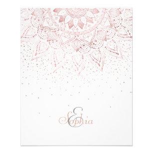 Prospectus 11,4 Cm X 14,2 Cm Conception rose élégante de confettis de mandala