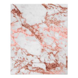 Prospectus 11,4 Cm X 14,2 Cm Image rose de texture de marbre de parties
