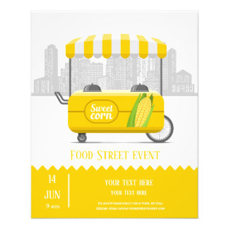 Prospectus 11,4 Cm X 14,2 Cm Maïs de rue de nourriture