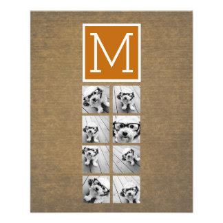 Prospectus 11,4 Cm X 14,2 Cm Monogramme de collage de photo - Papier