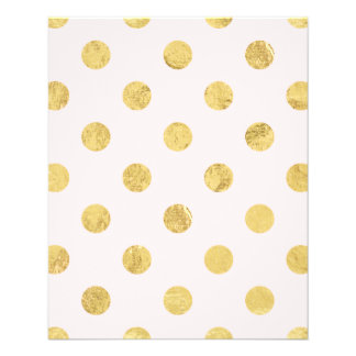 Prospectus 11,4 Cm X 14,2 Cm Motif de point élégant de polka de feuille d'or -