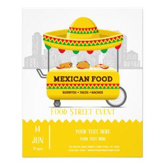 Prospectus 11,4 Cm X 14,2 Cm Nourriture de Mexicain de rue de nourriture