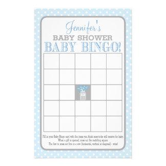 Prospectus 14 Cm X 21,6 Cm Bingo-test (bleu) de bébé de pot de maçon