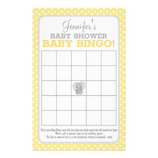 Prospectus 14 Cm X 21,6 Cm Bingo-test (jaune) de bébé d'éléphant