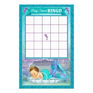 Prospectus 14 Cm X 21,6 Cm Carte #130 de jeu de bingo-test de baby shower de