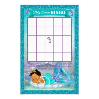 Prospectus 14 Cm X 21,6 Cm Carte #136 de jeu de bingo-test de baby shower de