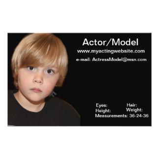 Prospectus 14 Cm X 21,6 Cm Cartes modèles d'élém. d'acteur d'enfants