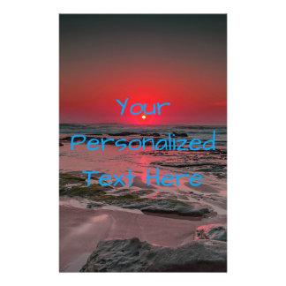 Prospectus 14 Cm X 21,6 Cm Coucher du soleil tropical de plage