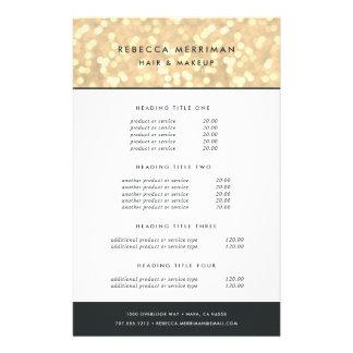 Prospectus 14 Cm X 21,6 Cm Évaluation et services de Bokeh d'or de Champagne