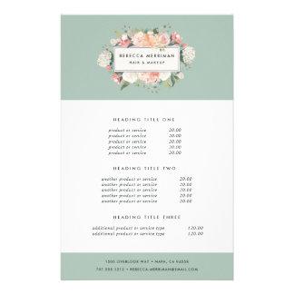 Prospectus 14 Cm X 21,6 Cm Évaluation et services floraux antiques