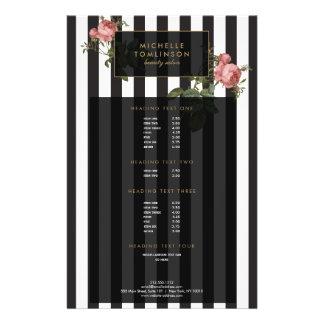 Prospectus 14 Cm X 21,6 Cm Insecte rayé floral vintage de salon
