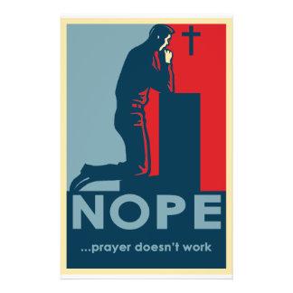 Prospectus 14 Cm X 21,6 Cm La prière de NOPE… ne fonctionne pas - l'insecte