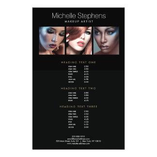 Prospectus 14 Cm X 21,6 Cm Listes des prix noires de photo de maquilleurs