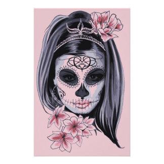 Prospectus 14 Cm X 21,6 Cm Masque de squelette de femme