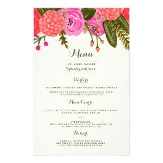 Prospectus 14 Cm X 21,6 Cm Menu vintage de dîner de mariage de jardin