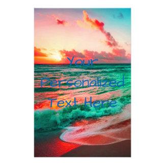 Prospectus 14 Cm X 21,6 Cm Paradis tropical de coucher du soleil sur la plage