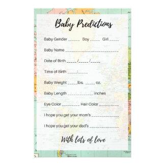 Prospectus 14 Cm X 21,6 Cm Prévisions de bébé - carte multicolore