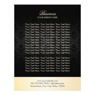 Prospectus 21,6 Cm X 24,94 Cm Brochures élégantes d'or moderne et de damassé