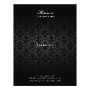 Prospectus 21,6 Cm X 24,94 Cm Brochures noires élégantes de salon de cheveux e