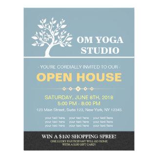 Prospectus 21,6 Cm X 24,94 Cm Chambre ouverte d'arbre de yoga d'instructeur de