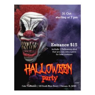 Prospectus 21,6 Cm X 24,94 Cm Clown effrayant de Halloween
