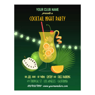 Prospectus 21,6 Cm X 24,94 Cm Club/invitation d'entreprise de partie de nuit de