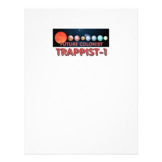 Prospectus 21,6 Cm X 24,94 Cm Colon de la PIÈCE EN T Trappist-1