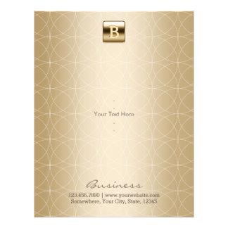 Prospectus 21,6 Cm X 24,94 Cm Élégant géométrique de monogramme de luxe d'or