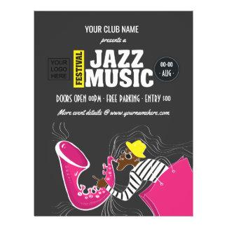 Prospectus 21,6 Cm X 24,94 Cm Festival de musique coloré de jazz