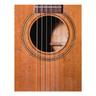 Prospectus 21,6 Cm X 24,94 Cm Guitare rustique