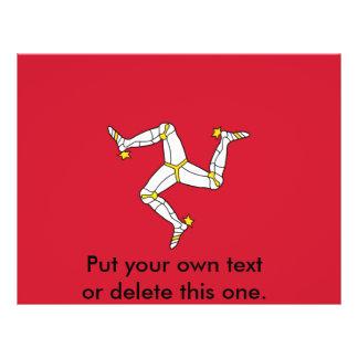 Prospectus 21,6 Cm X 24,94 Cm Insecte avec le drapeau d'île de Man, Royaume-Uni