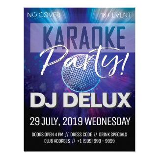 Prospectus 21,6 Cm X 24,94 Cm Insecte de club de la partie | DJ | de karaoke