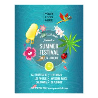 Prospectus 21,6 Cm X 24,94 Cm La coutume de festival d'été de club ajoutent la