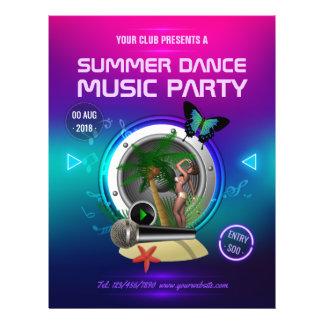 Prospectus 21,6 Cm X 24,94 Cm La partie de musique de danse d'été de club