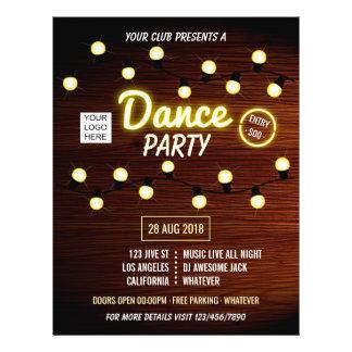 Prospectus 21,6 Cm X 24,94 Cm La partie de musique de danse du DJ de club