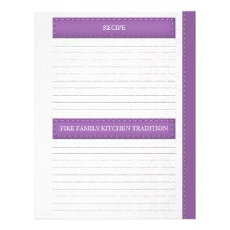 Prospectus 21,6 Cm X 24,94 Cm Laura Grinstead - pages grises pourpres de recette