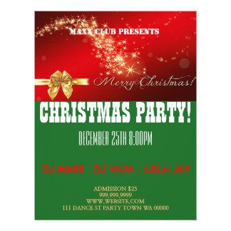 Prospectus 21,6 Cm X 24,94 Cm Le faire-part DJ d'événement de fête de Noël