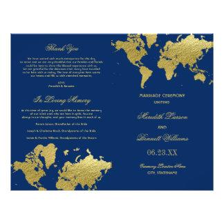Prospectus 21,6 Cm X 24,94 Cm Le mariage programme la carte du monde d'or de |