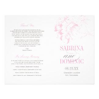 Prospectus 21,6 Cm X 24,94 Cm Le mariage programme la pivoine rose de | florale