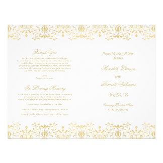 Prospectus 21,6 Cm X 24,94 Cm Le mariage programme le charme de cru d'or de |